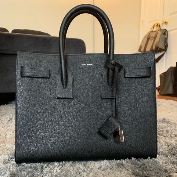 60e5db08c5a Saint Laurent Bags | Medium Black Sac De Jour | Poshmark